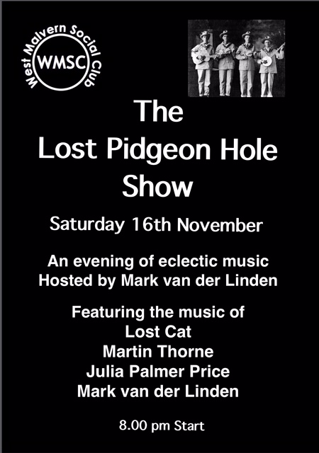 Lost Pidgeon Hole Show