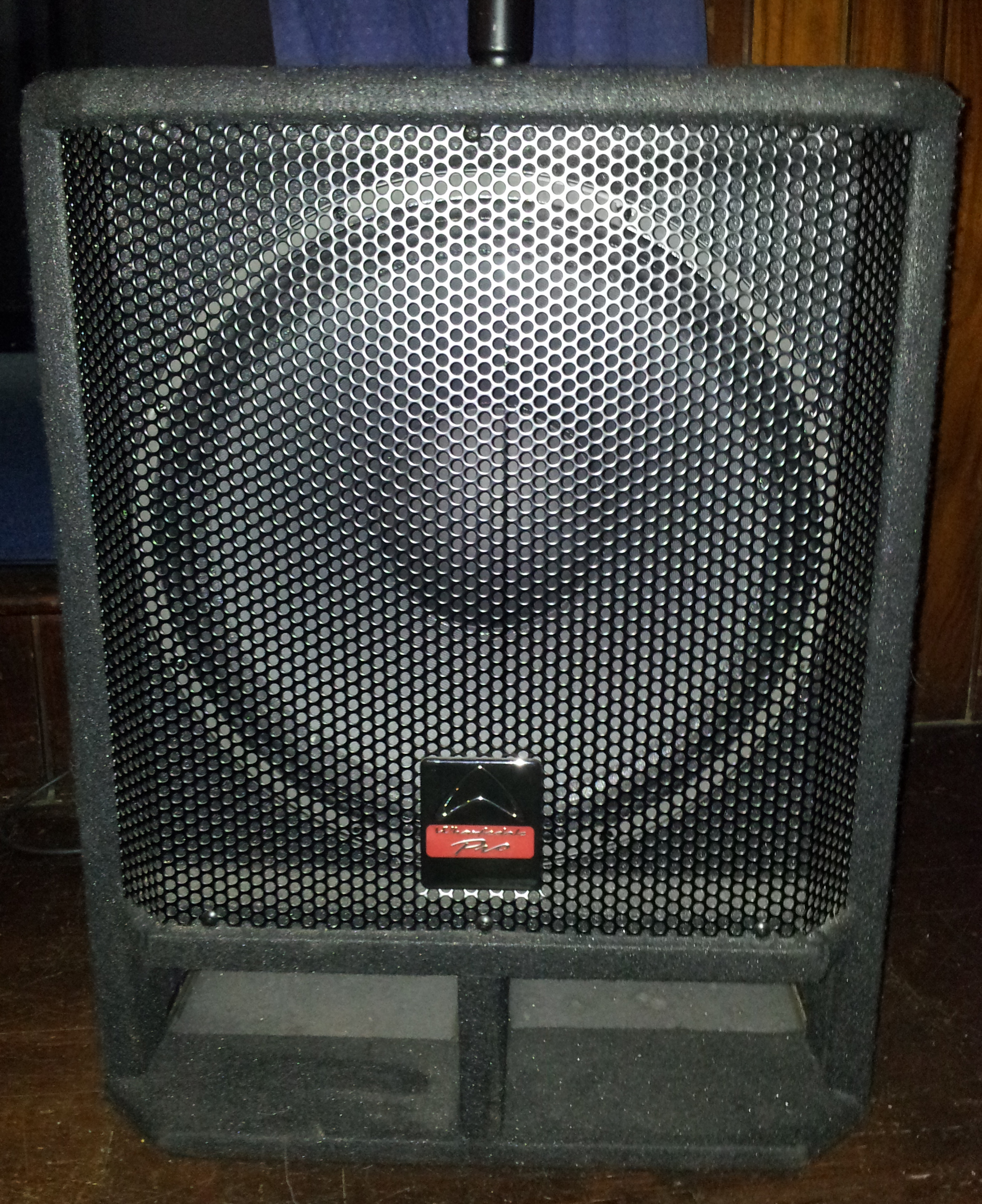 front of 400W speakers